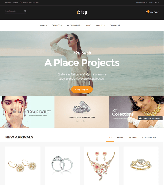 ishop jewelry watch shopify themes