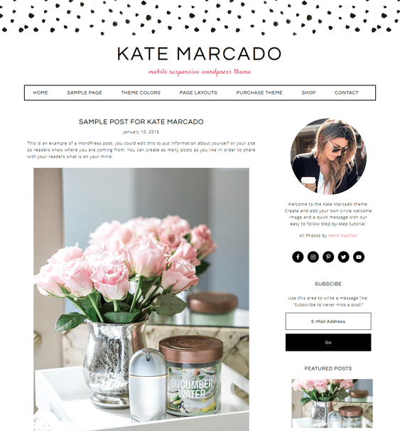 kate marcado feminine wordpress themes