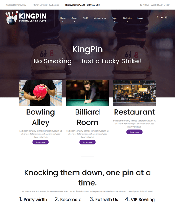 kingpin sports wordpress themes