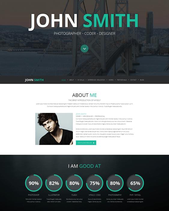 online cv resume joomla templates - Resume Cv Joomla Template