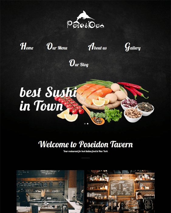 poseidon restaurant wordpress theme