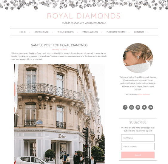 royal feminine wordpress themes