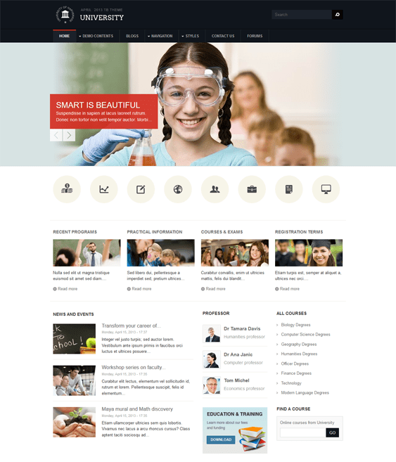 tb university education drupal themes