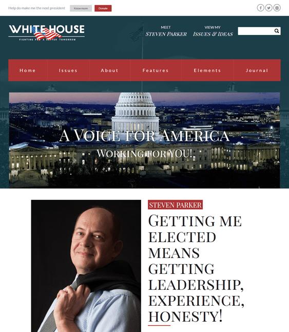 whitehouse politics political candidates wordpress themes