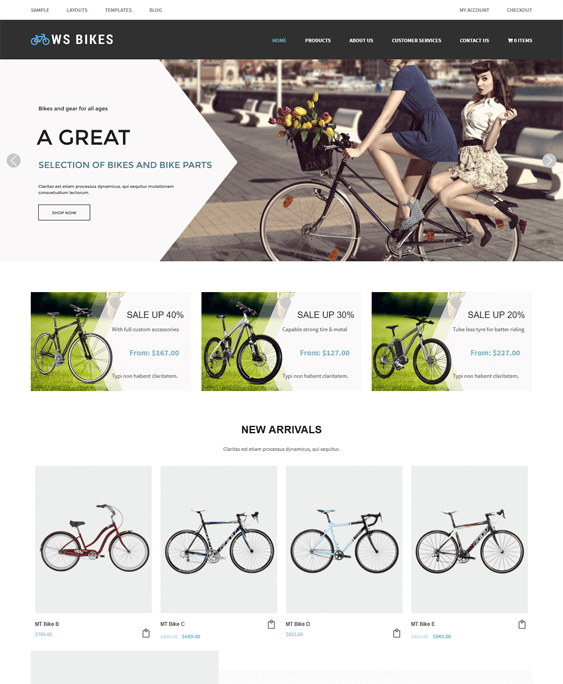 ws bikes sports wordpress themes