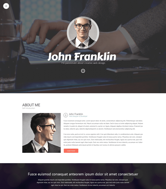 designers cv resume wordpress themes