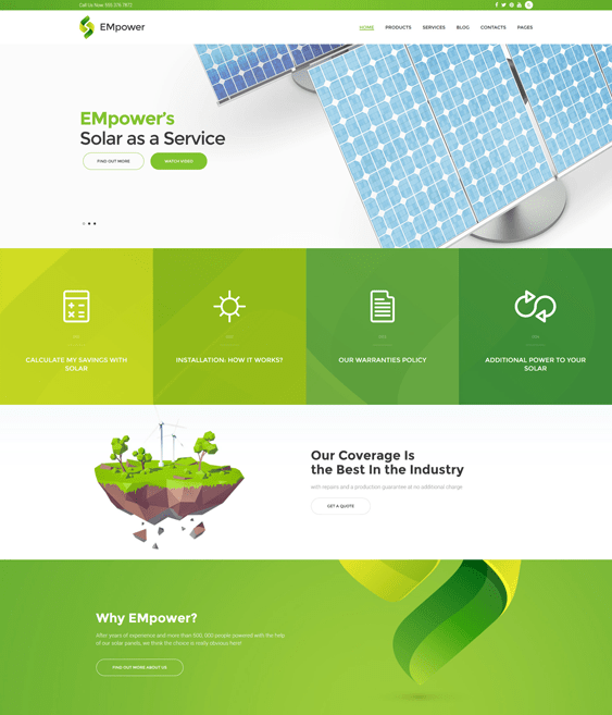 empower green organic eco friendly wordpress themes