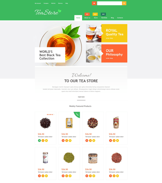 online tea food drink wordpress themes