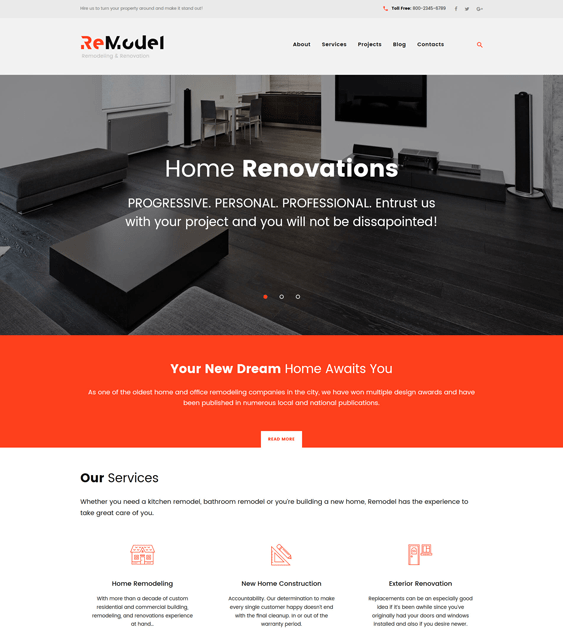 remodel wordpress themes construction companies building contractors