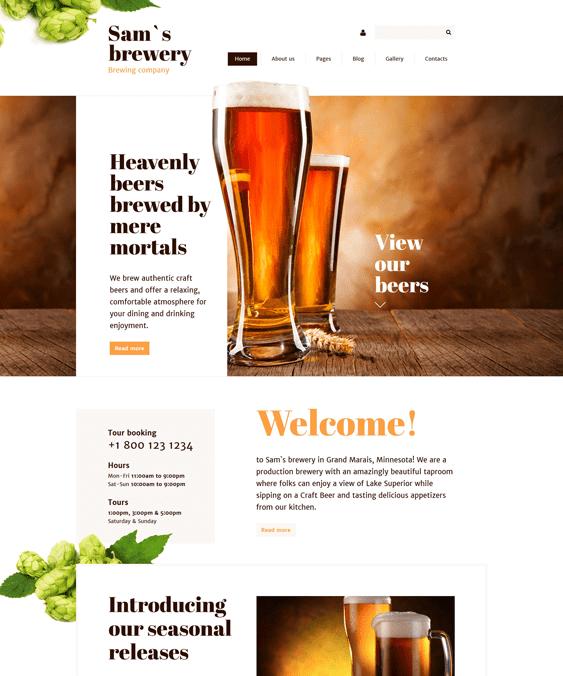 sams brewery joomla templates