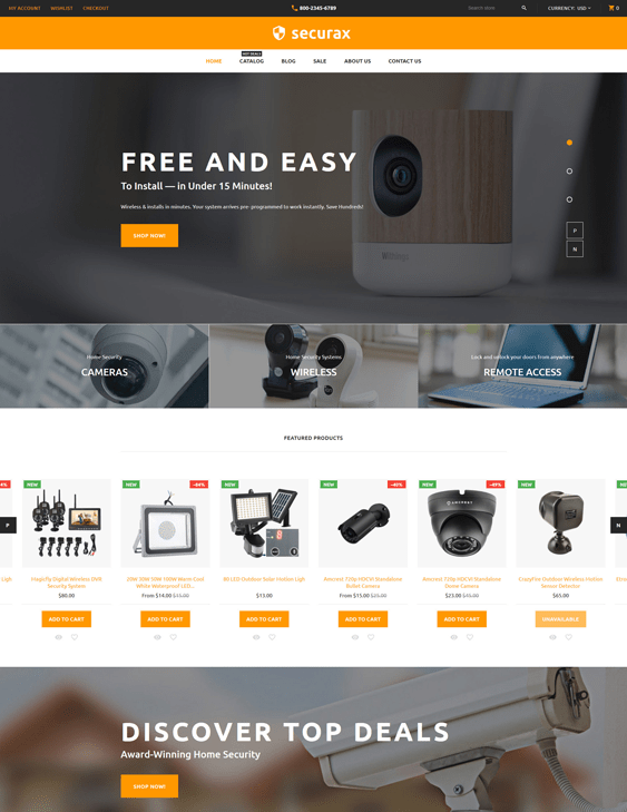 security responsive shopify themes 2017