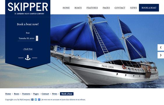 skipper travel wordpress themes