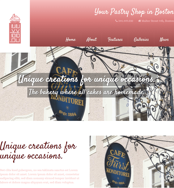 bakecake restaurant wordpress themes