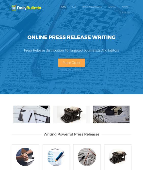 dailybulletin writer author wordpress themes