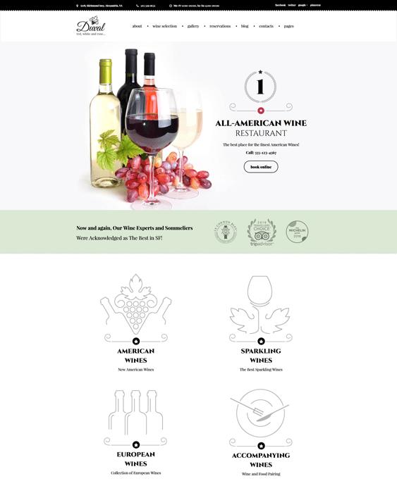 duval wine wordpress themes