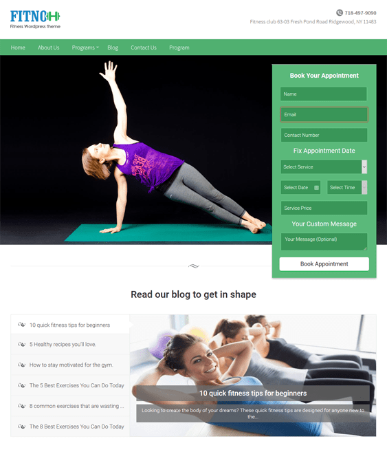 fitno gym fitness wordpress themes