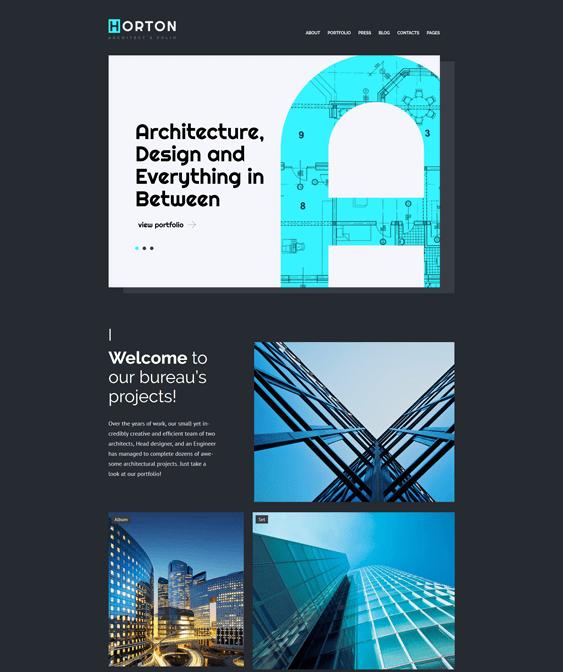 horton architect wordpress themes