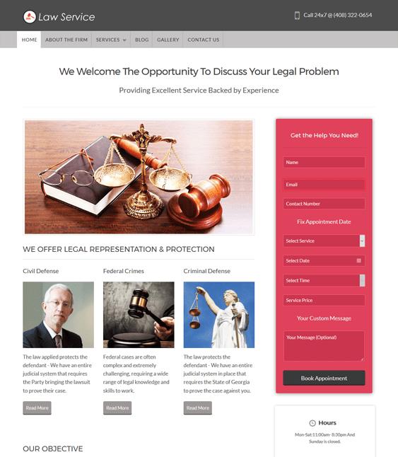 law service wordpress themes lawyers attorneys legal