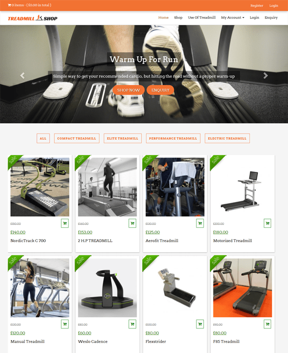 treadmillshop gym fitness wordpress themes
