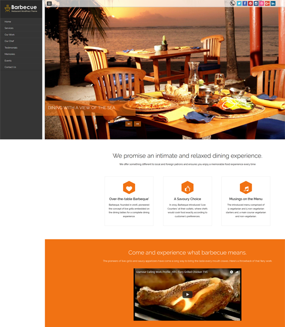 barbeque bakery restaurant wordpress themes