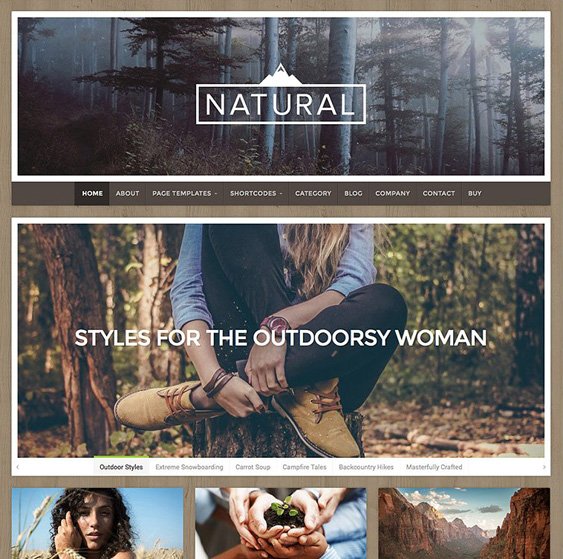 natural green eco-friendly organic wordpress themes