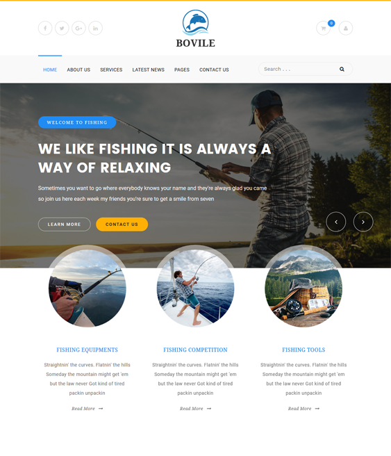 bovile sports wordpress themes