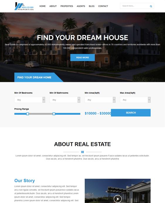 hexo real estate wordpress themes