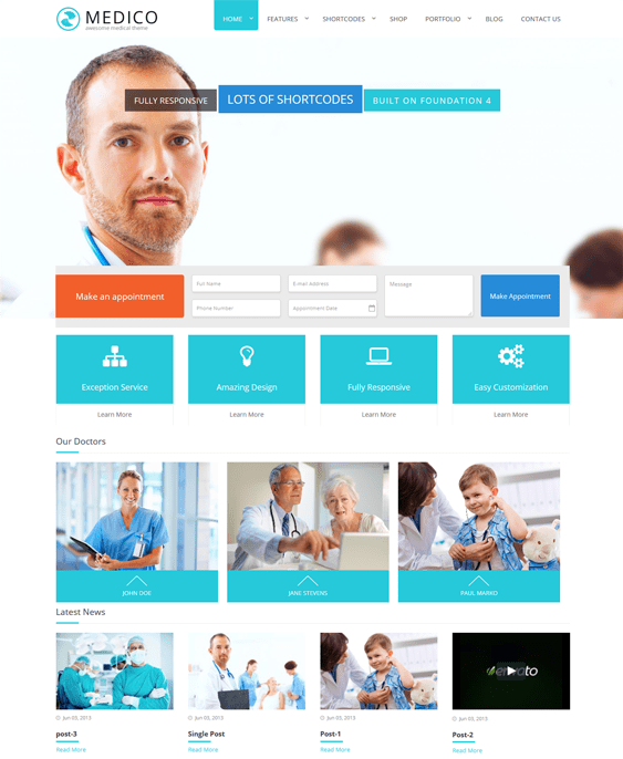 medico medical wordpress themes