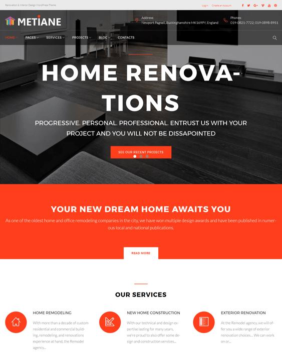 renovations wordpress themes construction companies building contractors