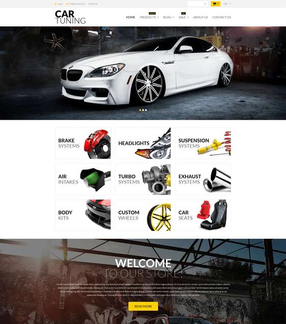 tuning-car vehicle automotive shopify themes