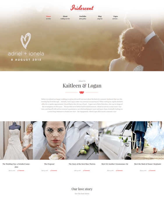 iridescent-marriage-- wedding wordpress themes