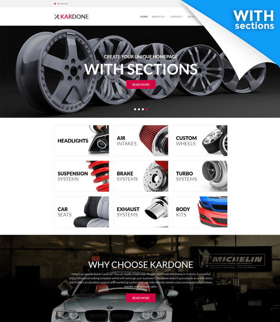 Of The Best Shopify Themes For Car Automotive Vehicle Stores - Shopify design templates