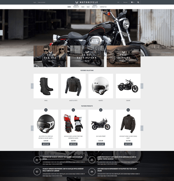 motorcycle-store-car vehicle automotive shopify themes