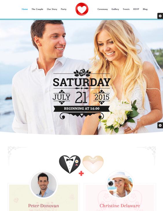 wedding ceremony wedding wordpress themes