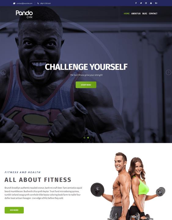 bundle fitness--gym-wordpress-theme