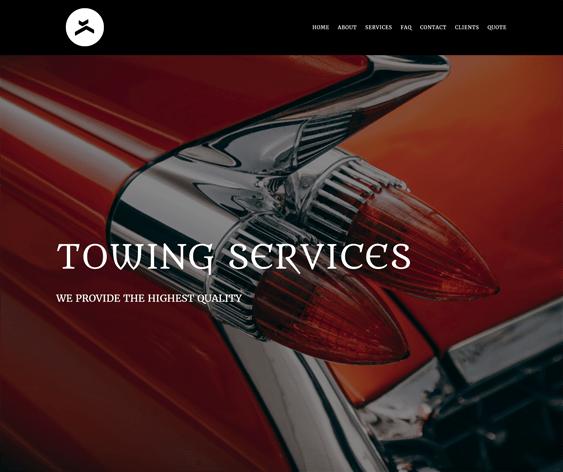tow car vehicle automotive wordpress themes