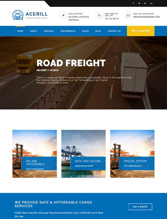 acerill transportation--logistics-wordpress-theme