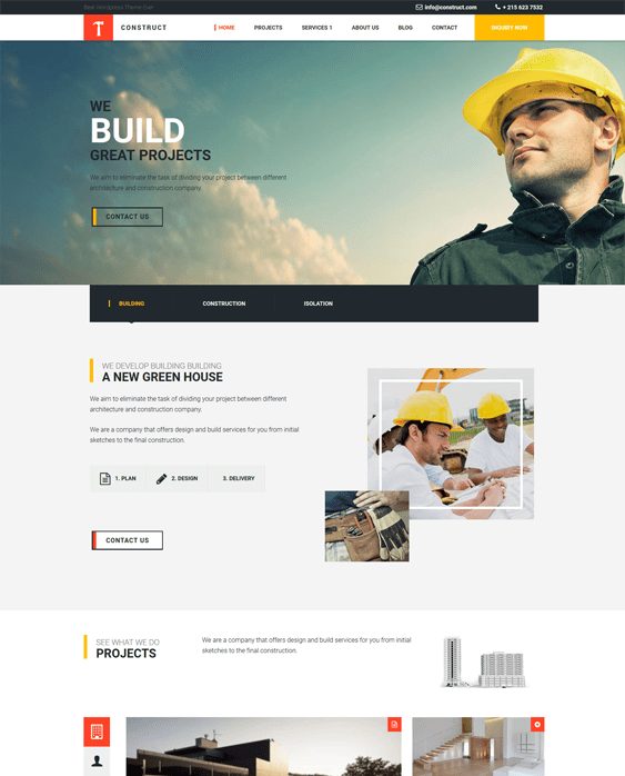 construct contractor construction companies wordpress themes