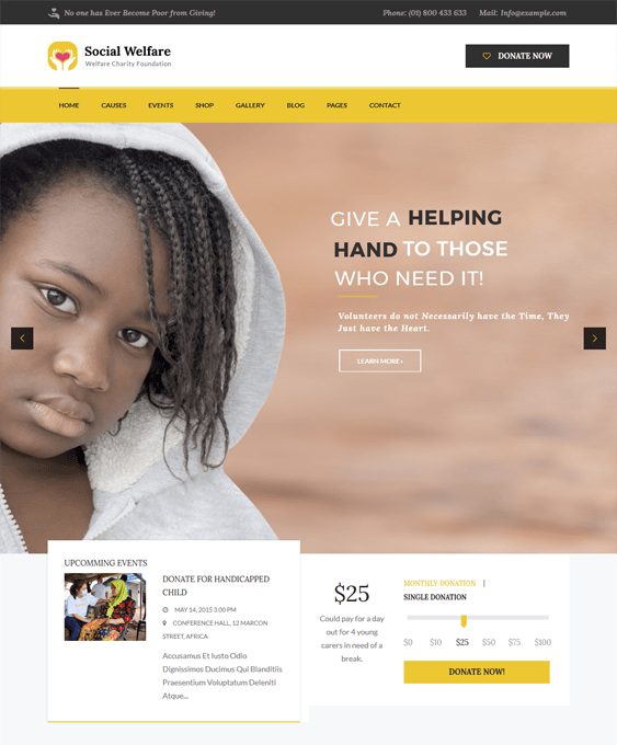 socialwelfare charity nonprofit wordpress themes