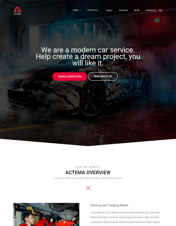 actema car vehicle automotive wordpress themes
