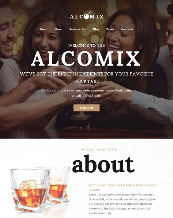 alcomix restaurant wordpress themes
