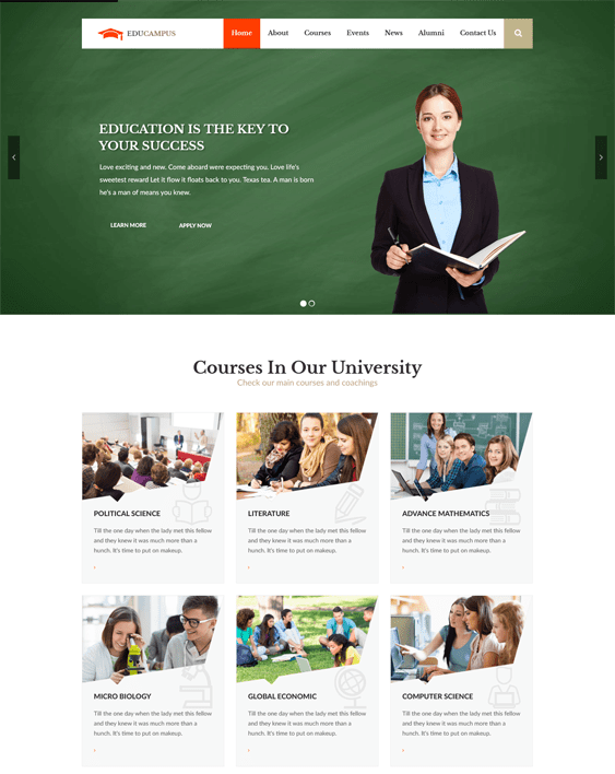 educampus education wordpress themes
