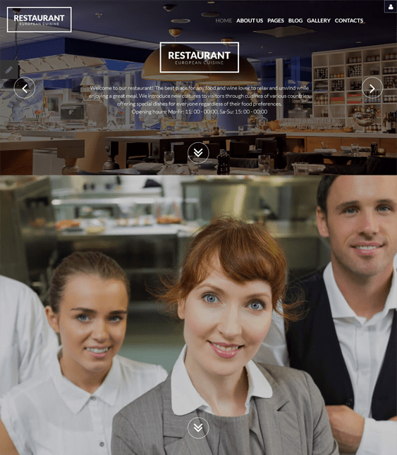 european restaurant joomla templates