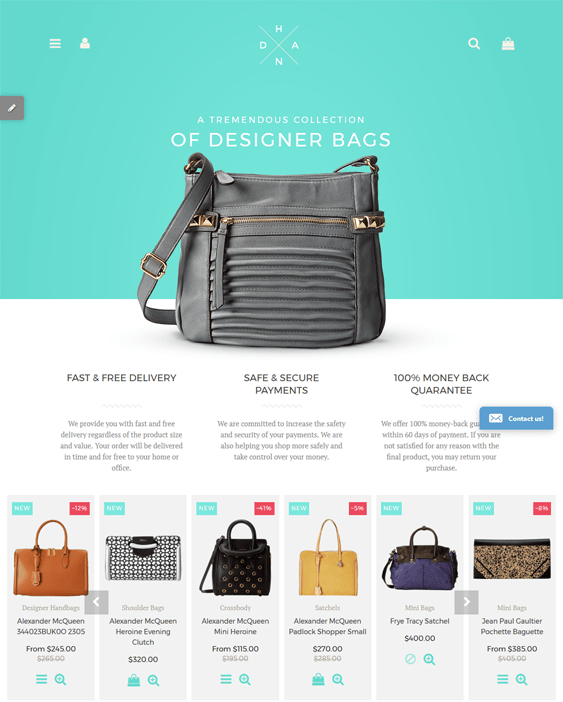handbags purses shopify themes
