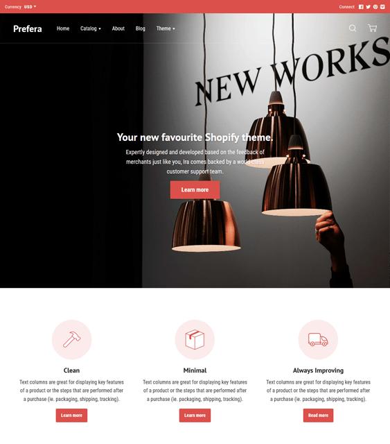 ira shopify themes interior design home decor stores