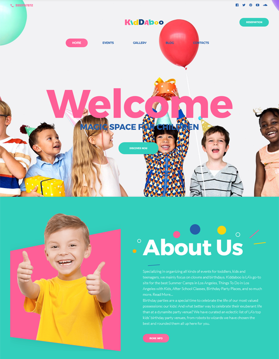kiddaboo kids wordpress themes