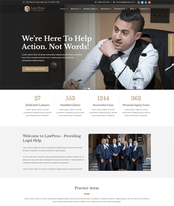 lawpress lawyers attorneys law firms wordpress themes
