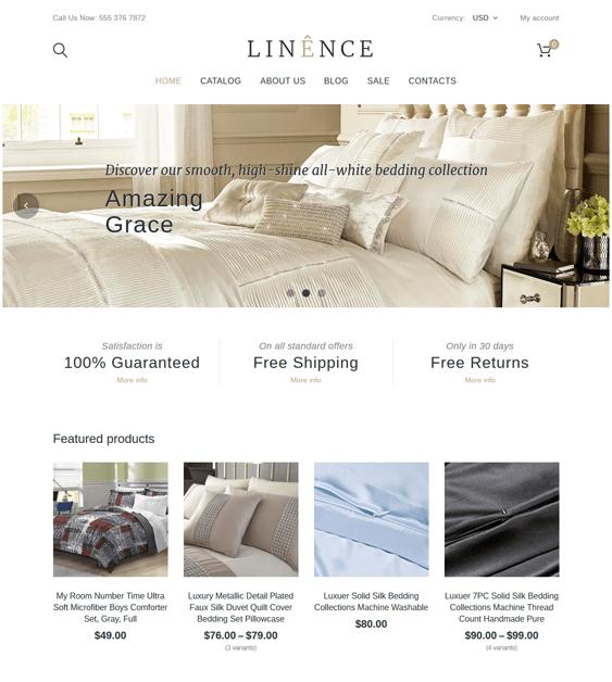 linen shopify themes interior design home decor stores