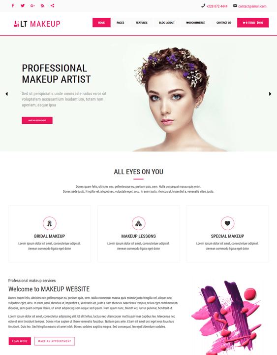 lt makeup beauty salon spa wordpress themes