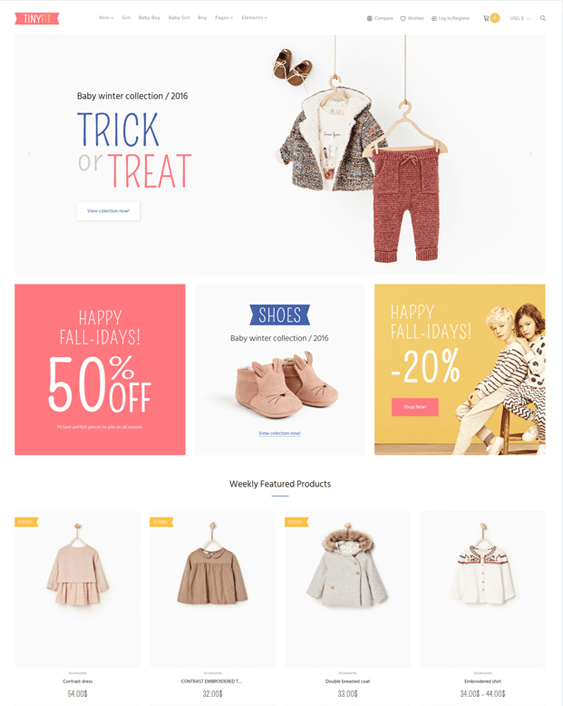 tinyfit kids wordpress themes